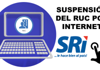 Suspensión del RUC por Internet