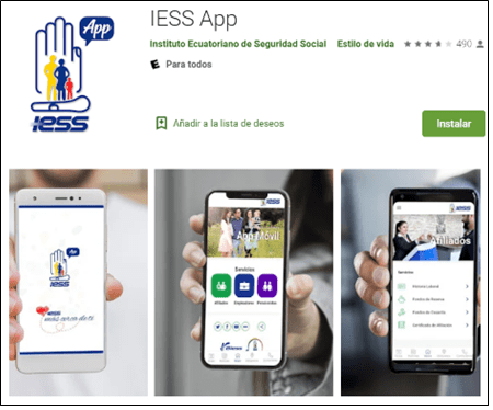 cesantia iess app, citas medicas iess app, movil, descargar, aportacines, contactenos