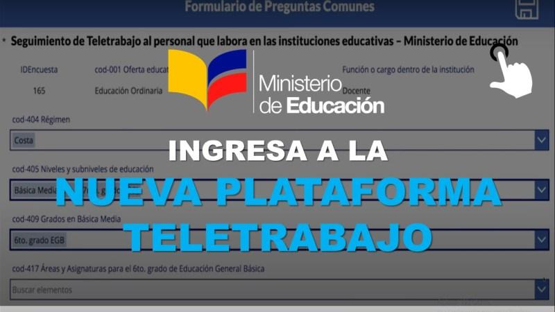 Nueva Plataforma Teletrabajo del Ministerio de Educación