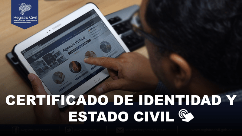 Certificado de Identidad y Estado Civil