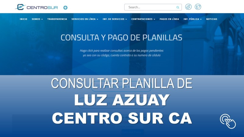 Consultar Planilla de Luz Azuay CENTRO SUR