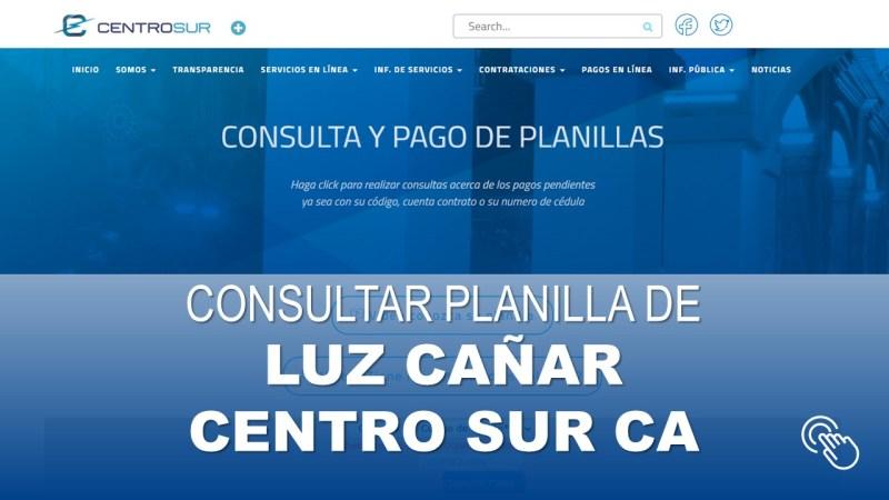Consultar Planilla de Luz Cañar Centro Sur CA