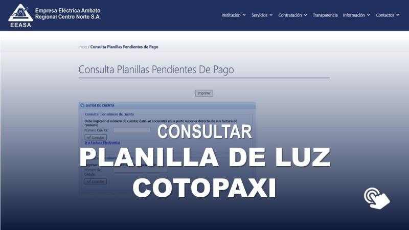 Consultar Planilla de Luz Cotopaxi ELEPCO S.A.