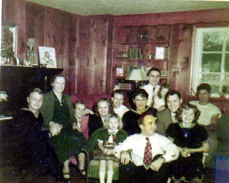 Scherff family and friends ca. 1938 color adjusted