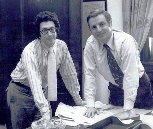 Harold W. Rosenthal with Sen Walter Mondale