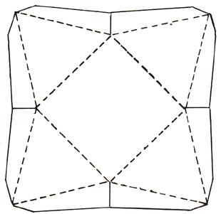 1.5 inch cardboard Pyramid cutout forms