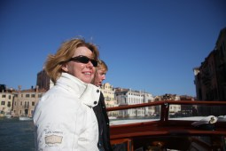 Janet on the Grand Canal, Venice