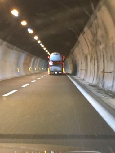 The transporter full of Maserati cars