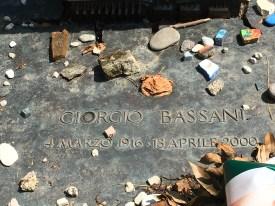 Detail of Bassani memorial