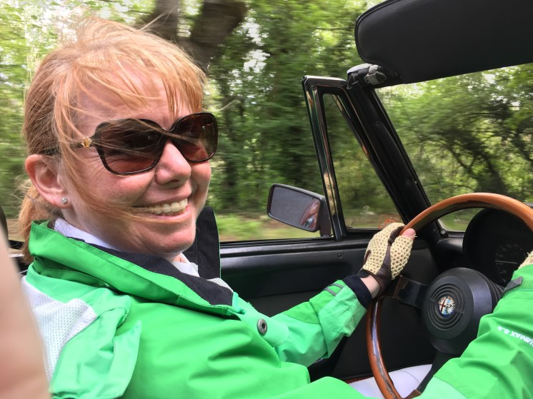 Good old me at the wheel of an Alfa