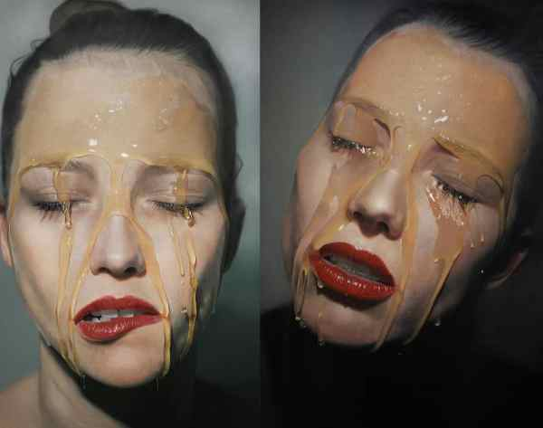 Sensual Hyperrealistic Paintings Of Women Covered In Honey
