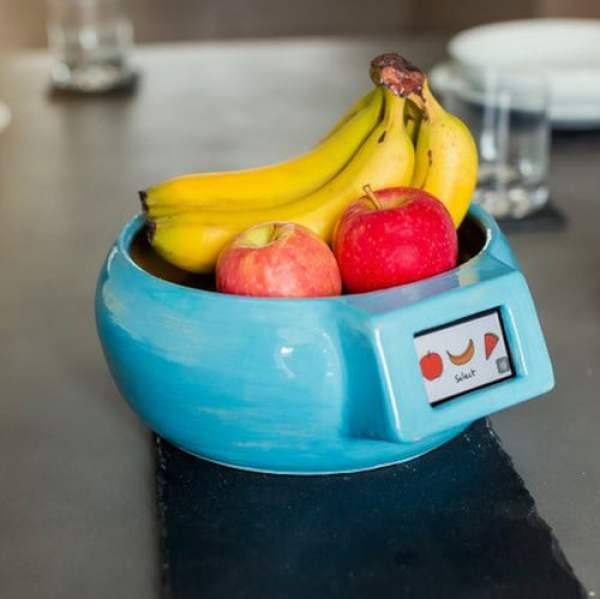 """""""The alarm cup is a device that you use to prevent your food from expiring. You place your item in the container and set the alarm for the day that it expires. The alarm will ring two days before the date so that you have enough time to eat or use it. it is made out of metal."""" – Rumaan, age 11, from Grasby, UK"""