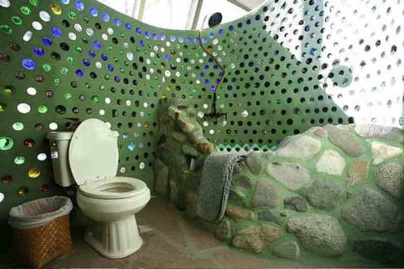 Earthship Bathroom