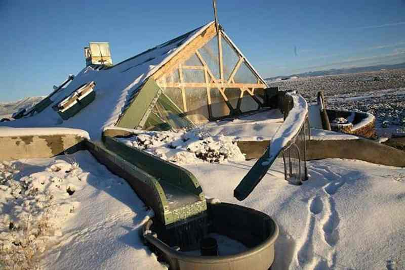Snow Covered Earthship