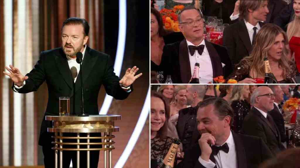 ricky gervais horrifies golden globes 2020 stars with paedophile jokes and claims theyd work for isis