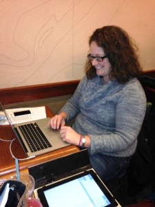 Sarah Cohn Writing the ASHA Grant