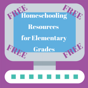 Free Homeschooling Resources for Elementary Grades Graphic of Illustrated Computer