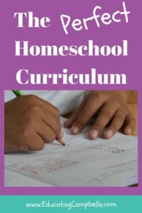 The Perfect Homeschool Curriculum Pinterest Image