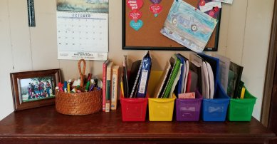 Using Classroom Book Bins for Storage