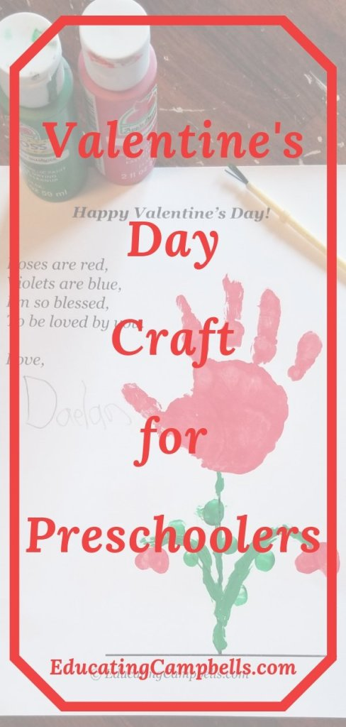 Pinterest Image -- Preschool keepsake handprint craft
