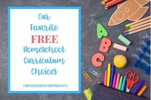 Favorite Free Homeschool Curriculum Choices, blackboard layout with school supplies