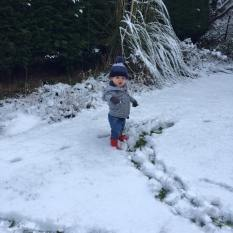 First steps in snow