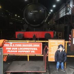 With a steam train