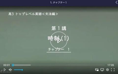 スタディサプリ高3トップレベル英語、文法編の時制1