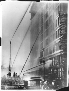 Photograph of Fire Fighters at the Triangle Shirtwaist Factory