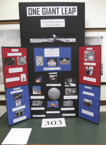 A project illustrates the Impact of the first moon landing.