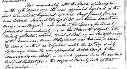 John Trumbull on General Washington's staff in 1775