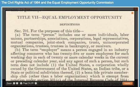 Civil Rights Act 1964 DocsTeach Activity
