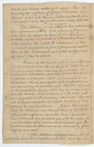 Petition of mechanics and manufacturers of the City of New York, page 2, April 18, 1789; Records of the U.S. Senate