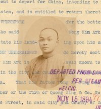 Image of Wong Kim Ark who was denied reentry to the United States upon his return from an 1894 visit to China