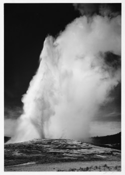 Yellowstone National Park is home to beautiful canyons, plains, and one of the world's largest collection of geysers—the most famous being the one pictured here, Old Faithful.