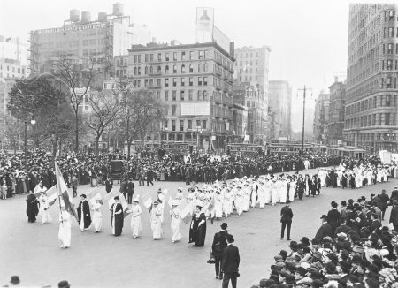 Photograph of Suffrage Parade