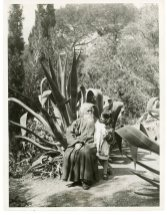Rabindranath Tagore Instructing his Granddaughter Nandini on the Beauties of Nature