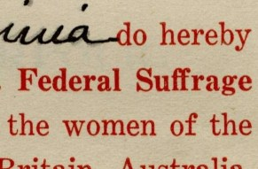 Petition from the Women of the Equal Suffrage League of Norfolk
