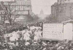 Women Marching in Suffrage Parade
