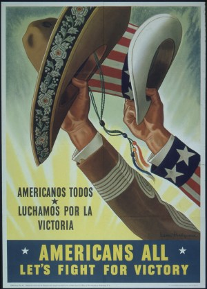 Poster with hands holding hats