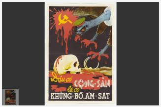 Poster with a vulture and skull