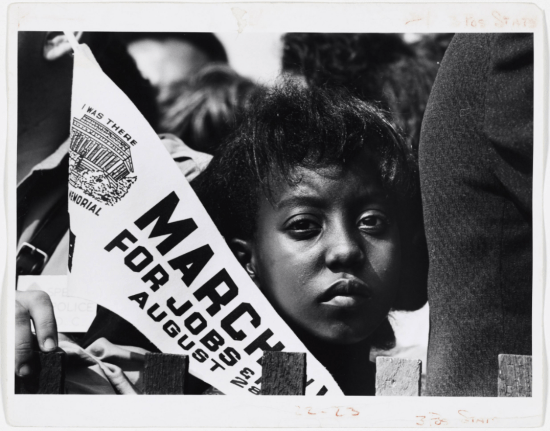 Girl at the March on Washington