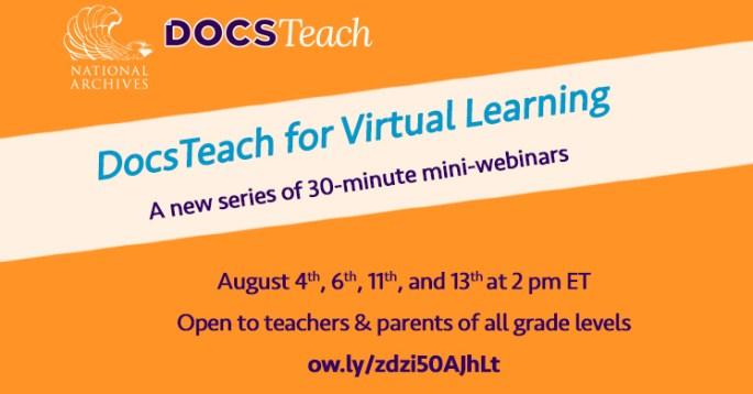 DocsTeach for Virtual Learning