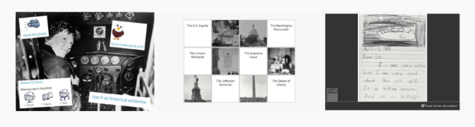 Amelia Earhart activity, Monuments Activity, Letter analysis activity
