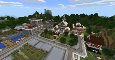 minecraft town edition starter education building requirements worlds