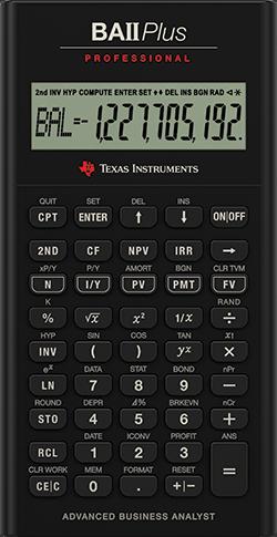 Texas Instruments Ba Ii Plus : texas, instruments, Plus™, Professional