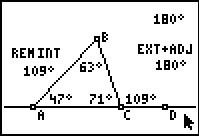 Interior & Exterior Angles of a Triangle: Geometry: