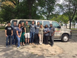 Street Medicine Detroit visits a local park to provide mobile care to homeless men & women.