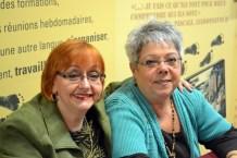 Diane Felton et Ginette Alie, fidèles bénévoles à l'accueil du dîner de Noel 2014