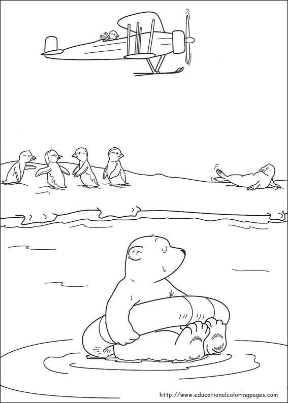 Little Polar Bear Coloring Pages - Educational Fun Kids